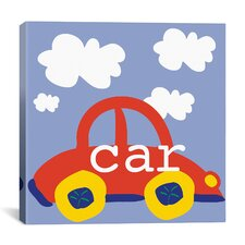 "Erin Clark ""Red Car"" Canvas Wall Art"