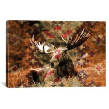 Male Canadian Moose Graphic Art on Canvas