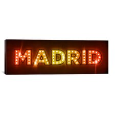 'Madrid' by Michael Tompsett Graphic Art on Canvas