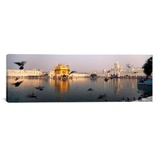 Panoramic Golden Temple, Amritsar, Punjab, India Photographic Print on Canvas