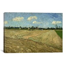 'Ploughed Fields (The Furrows)' by Vincent van Gogh Painting Print on Canvas