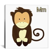Kids Art Monkey Graphics Canvas Wall Art