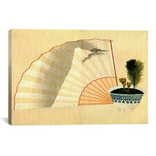 Porcelain Pot with Open Fan by Katsushika Hokusai Graphic Art on Canvas