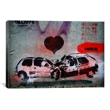 Street Art Love Crash Graffiti Graphic Art on Canvas