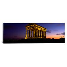 Panoramic Penshaw Monument, Durham, England Photographic Print on Canvas