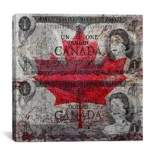 One Canadian Dollar 5 Canvas Graphic Art on Canvas