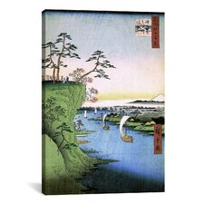 'One Hundred Famous Views of Edo 95' by Utagawa Hiroshige l Painting Print on Canvas