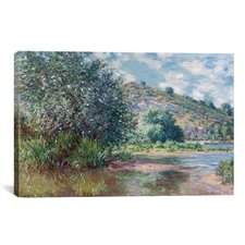 'Paysage a Port-Villez 1885' by Claude Monet Painting Print on Canvas