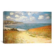 'Path Through the Corn at Pourville' by Claude Monet Painting Print on Canvas