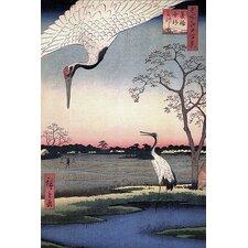 Ando Hiroshige 'One Hundred Famous Views of Edo 102' by Utagawa Hiroshige l Graphic Art on Canvas