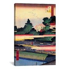 Ando Hiroshige 'One Hundred Famous Views of Edo 41' by Utagawa Hiroshige l Graphic Art on Canvas