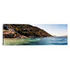 Panoramic Kayaking, Sunken City, Kekova Turkey Photographic Print on Canvas
