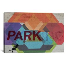 Street Art 'Parking Girl Swing Color Explosion' Graphic Art on Canvas
