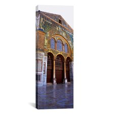 Panoramic Mosaic Facade of a Mosque, Umayyad Mosque, Damascus, Syria Photographic Print on Canvas