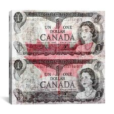 One Canadian Dollar 6 Graphic Art on Canvas