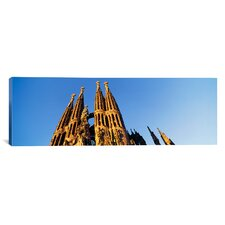 Panoramic Sagrada Familia Barcelona, Spain Photographic Print on Canvas