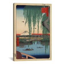 Ando Hiroshige 'One Hundred Famous Views of Edo 62' by Utagawa Hiroshige l Graphic Art on Canvas