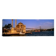 Panoramic Ortakoy Mosque, Istanbul, Turkey Photographic Print on Canvas