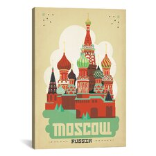 Moscow, Russia by Anderson Design Group Vintage Advertisement on Canvas