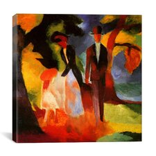 'People by a Blue Lake' by August Macke Painting Print on Canvas