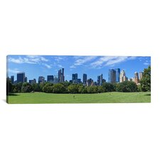 Panoramic 'Sheep Meadow, New York City' Photographic Print on Canvas