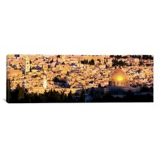 Panoramic Dome of the Rock Jerusalem, Israel Photographic Print on Canvas