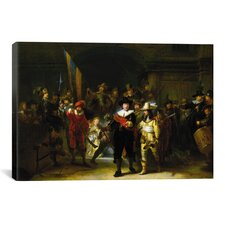 'Nightwatch' by Rembrandt Painting Print on Canvas