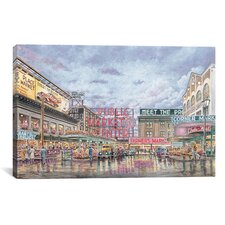 'Pike Place Market' by Stanton Manolakas Painting Print on Canvas