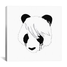 'Sad Panda' by Budi Satria Kwan Graphic Art on Canvas