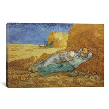 'Noon Rest (After Millet) 1889-1890' by Vincent Van Gogh Painting Print on Canvas