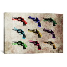 'Nine Revolvers' by Michael Tompsett Graphic Art on Canvas