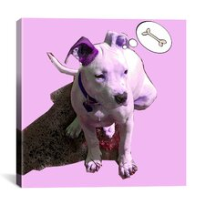 """Pink Puppy"" by Luz Graphics Graphic Art on Canvas"