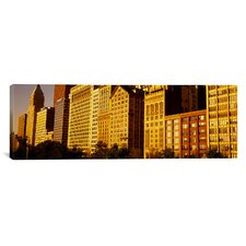 Panoramic Michigan Avenue Architecture, Chicago, Illinois Photographic Print on Canvas