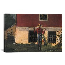 'Rustic Courtship (in the Garden) 1874' by Winslow Homer Painting Print on Canvas