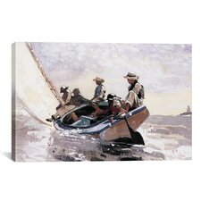 'Sailing the Catboat 1873' by Winslow Homer Painting Print on Canvas