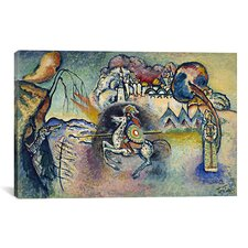 'Saint George Rider and the Dragon' by Wassily Kandinsky Painting Print on Canvas