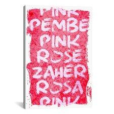 Pink T-Shirt Canvas Print Wall Art