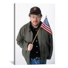Political Michael Moore Photographic Print on Canvas