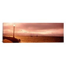 Panoramic San Francisco Bay, Golden Gate Bridge, California Photographic Print on Canvas