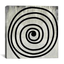 Modern Art Mid Century Modern Swirl Painting Print on Canvas