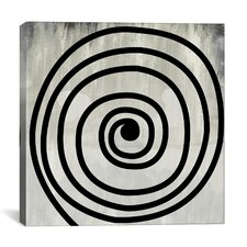 Modern Art Mid Century Swirl Painting Print on Canvas