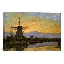 'Mill in the Evening, 1905' by Piet Mondrian Painting Print on Canvas