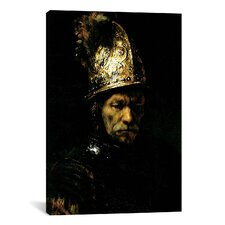 'Man with Helmet' by Rembrandt Painting Print on Canvas