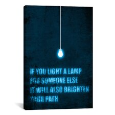 'Light a Lamp' by Budi Satria Kwan Textual Art on Canvas