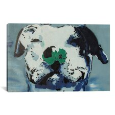 Street Art 'Man's Best Friend' Painting Print on Canvas