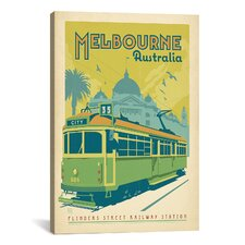 'Melbourne Australia' by Anderson Design Group Vintage Advertisement on Canvas