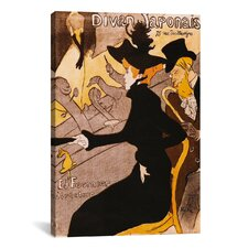 'Le Divan Japonais' by Henri De Toulouse-Lautrec Graphic Art on Canvas