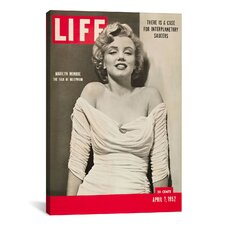 Vintage Posters Marilyn Monroe Life Magazine Cover Vintage Advertisement on Canvas