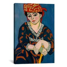 'Le Madras Rouge or Red Madras Headdress (1907)' by Henri Matisse on Canvas