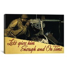 'Let's Give Him Enough and on Time' by Norman Rockwell Graphic Art on Canvas